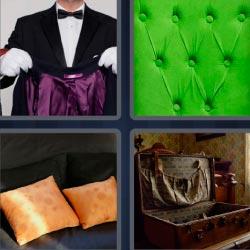 4 fotos 1 palabra tela verde mayordomo