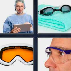 4 fotos 1 palabra gafas o lentes de nada