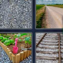 4 fotos 1 palabra piedra via tren camino