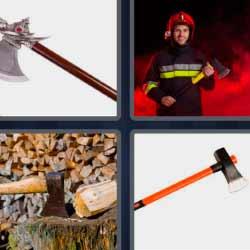 4 fotos 1 palabra bomberos hacha