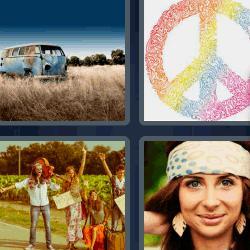 4 fotos 1 palabra símbolo de la paz