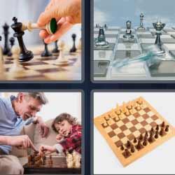 4 fotos 1 palabra ajedrez tablero