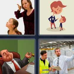 4 fotos 1 palabra regaño a niña