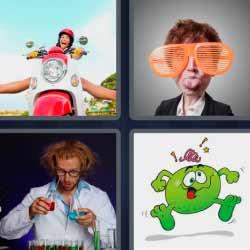 4 fotos 1 palabra lentes hombre con lentes