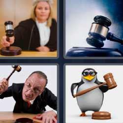 4 fotos 1 palabra juez pinguino