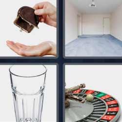 4 fotos 1 palabra ruleta vaso