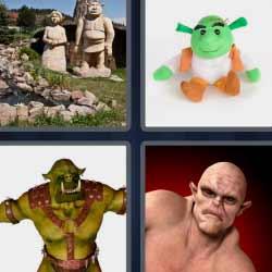 4 fotos 1 palabra shrek