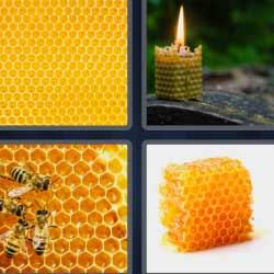 4 fotos 1 palabra vela abejas
