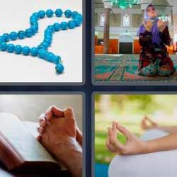 4 fotos 1 palabra rosario azul