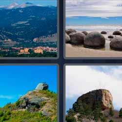 4 fotos 1 palabra piedras redondas