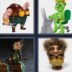 4 fotos 1 palabra duende hombre verde