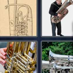 4 fotos 1 palabra instrumento de viento