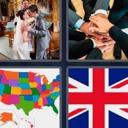 4 fotos 1 palabra mapa bandera